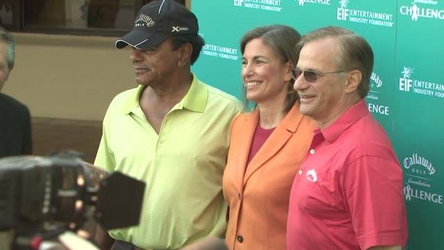 Johnny Mathis Dr Beth Karlan and George Fellows at the Callaway Golf Foundation's Annual ProCelebrity Tournament at Los Angeles CA