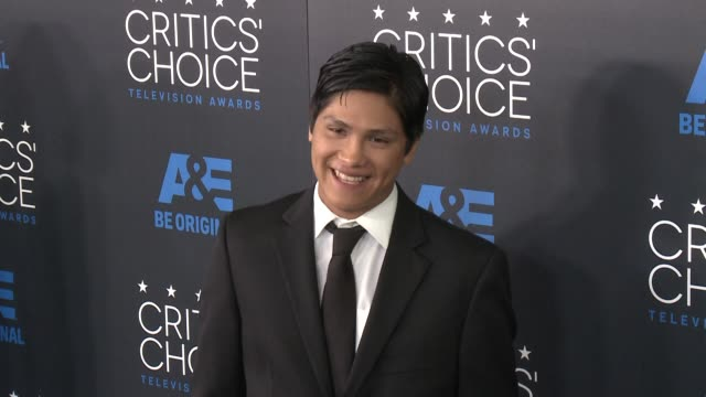 johnny ortiz at the 2015 critics' choice television awards at the beverly hilton hotel on may 31, 2015 in beverly hills, california. - 放送テレビ批評家協会賞点の映像素材/bロール