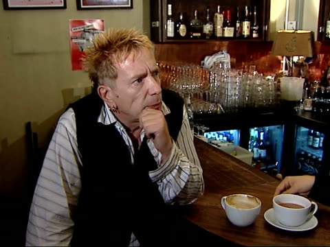 johnny rotten interview england int john lydon interview sot discusses forthcoming sex pistols performances at brixton academy i'm a celebrity... - i'm a celebrity... get me out of here stock videos & royalty-free footage