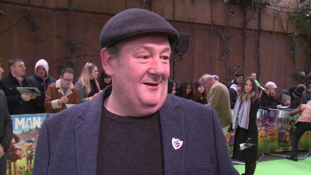 Johnny Vegas on coming onboard fellow cast and watching it for the first time at BFI IMAX on January 14 2018 in London England