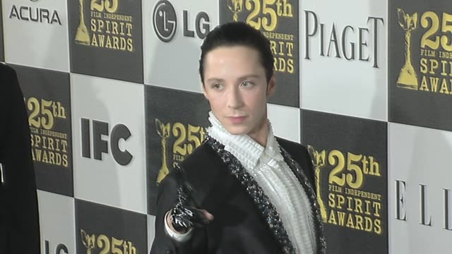johnny weir at the 2010 film independent's spirit awards - arrivals at los angeles ca. - independent feature project stock videos & royalty-free footage
