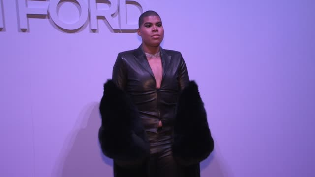 EJ Johnson at the photocall of the Tom Ford ready to wear Fall Winter 2018 Fashion Show New York City NY USA on Thursday February 8 2018