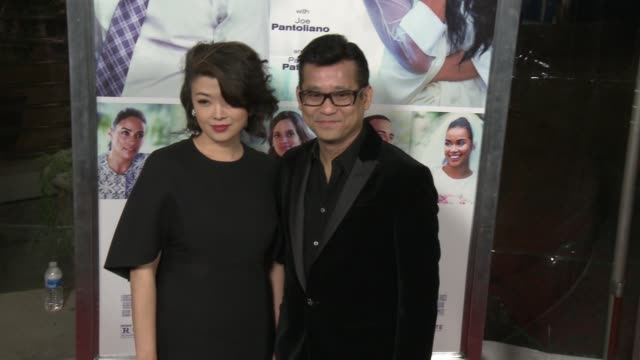 johnson chan and vivian at the perfect match los angeles premiere at arclight cinemas on march 07 2016 in hollywood california - arclight cinemas hollywood stock videos & royalty-free footage