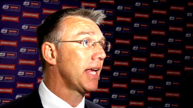 vidéos et rushes de johnstone's paint trophy final luton v scunthorpe nigel adkins interview england london wembley int nigel adkins interview sot started game well and... - turning on or off