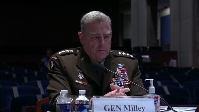 joint chiefs of staff chairman general mark milley tells maryland congressman anthony brown at a house armed services committee hearing that the... - united states department of defense stock videos & royalty-free footage