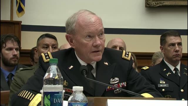 joint chiefs of staff chairman martin dempsey cites struggles between governments a shiasunni rivalry and between elements of islamic ideology as... - joint chiefs of staff stock videos and b-roll footage
