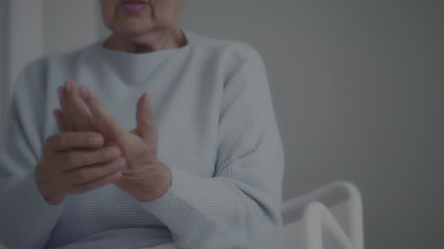 joint pain , hand massage - grief stock videos & royalty-free footage