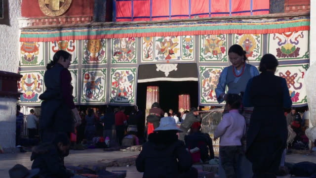jokhang temple, lhasa, tibet - animal representation stock videos & royalty-free footage