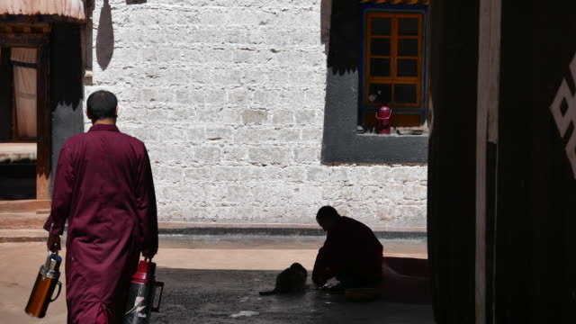 Jokhang Temple one of the holiest sites of Tibetan Buddhism and listed on UNESCO world cultural heritage