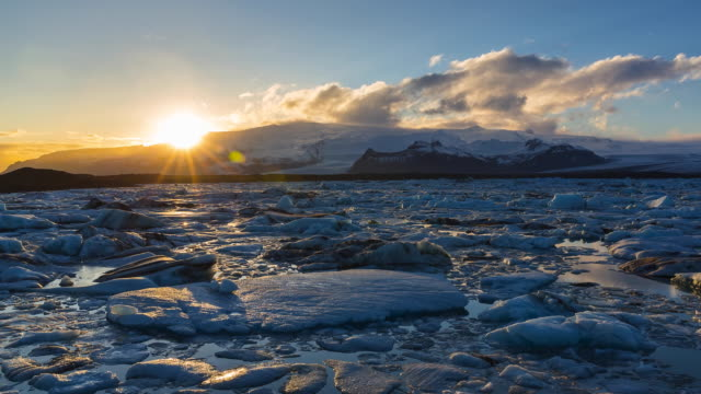 jokulsarlon glacier lagoon, vatnatjokull glacier, south iceland, iceland, europe - ice floe stock videos & royalty-free footage