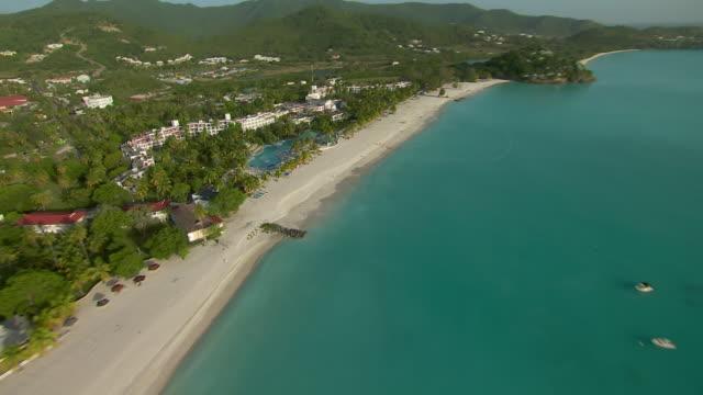 jolly beach resort on the caribbean island of antigua. - jolly video stock e b–roll