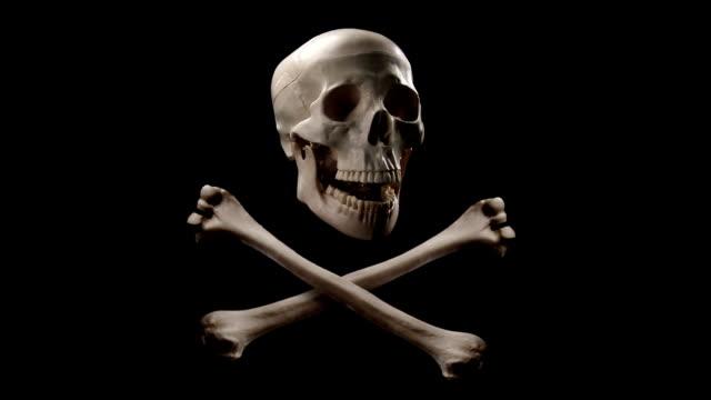 jolly roger - skull stock videos & royalty-free footage