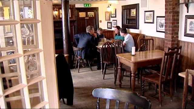 jolly sailor public house int macgoughan family having pub lunch lorna macgoughan interview sot - jolly video stock e b–roll