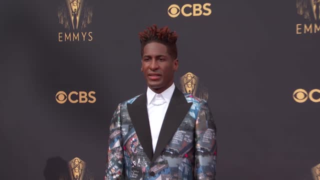 jon batiste arrives to the 73rd annual primetime emmy awards at l.a. live on september 19, 2021 in los angeles, california. - emmy awards stock videos & royalty-free footage
