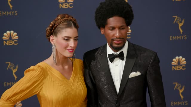 vídeos de stock, filmes e b-roll de jon batiste at the 70th emmy awards arrivals at microsoft theater on september 17 2018 in los angeles california - 70th annual primetime emmy awards