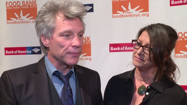 INTERVIEW Jon Bon Jovi and Dorothea Bon Jovi on being previous honorees at this event on what it takes to feed those in need at CanDo Awards Dinner...