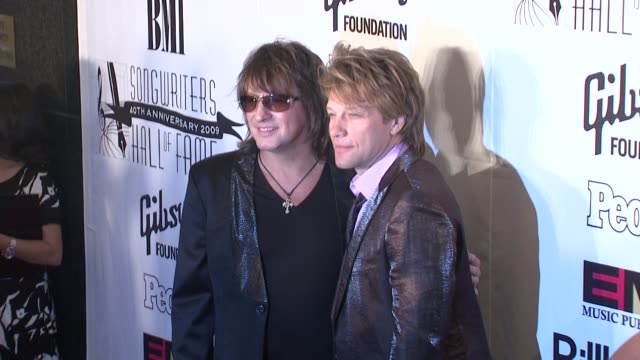 Jon Bon Jovi and Richie Sambora at the 2009 Songwriters Hall of Fame 40th Anniversary Induction Ceremony and Gala at New York NY