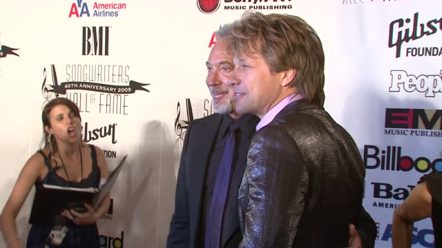 Jon Bon Jovi and Tom Jones at the 2009 Songwriters Hall of Fame 40th Anniversary Induction Ceremony and Gala at New York NY