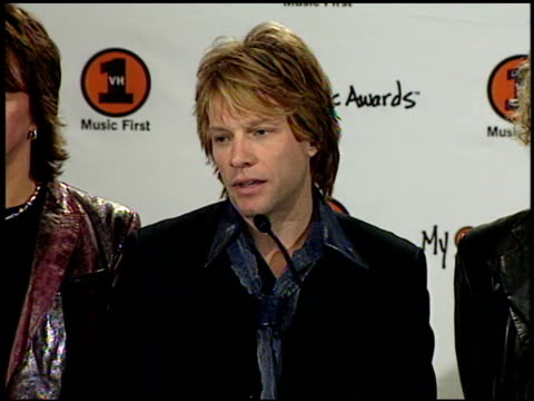 Jon Bon Jovi at the My VH1 Music Awards press room at the Shrine Auditorium in Los Angeles California on November 30 2000