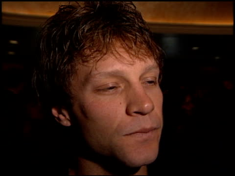 Jon Bon Jovi at the MS Society Dinner of Champions at the Century Plaza Hotel in Century City California on September 9 1999