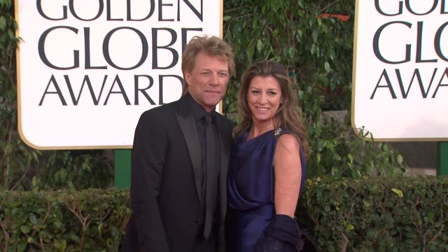 Jon Bon Jovi Dorothea Hurley at 70th Annual Golden Globe Awards Arrivals on 1/13/13 in Los Angeles CA