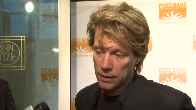 Jon Bon Jovi talks about his involvement in the charity what other charity work he's done and what is going on for him in 2009 at the Food Bank For...