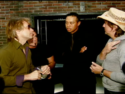 Jon Bon Jovi Tico Torres Tiger Woods and Richie Sambora at the Tiger Jam X Presented by ATT at Mandalay Bay Resort Casino in Las Vegas Nevada on May...