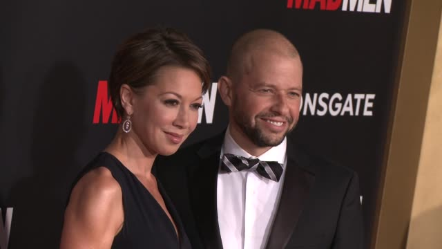 jon cryer and lisa joyner at amc celebrates the final season of mad men with black red ball at dorothy chandler pavilion on march 25 2015 in los... - lisa joyner stock videos and b-roll footage