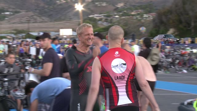 jon cryer and patrick fabian at nautica malibu triathlon presented by equinox on september 20 2015 in malibu california - jon cryer stock videos and b-roll footage