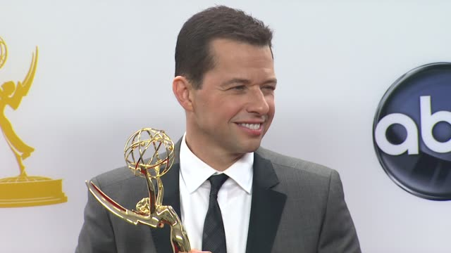 jon cryer at 64th primetime emmy awards photo room on 9/23/12 in los angeles ca - jon cryer stock videos and b-roll footage