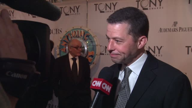 jon cryer at the 65th annual tony awards red carpet media room at new york ny - jon cryer stock videos and b-roll footage