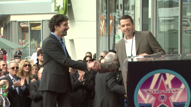 jon cryer at the chuck lorre receives a star on the hollywood walk of fame at los angeles ca - jon cryer stock videos and b-roll footage