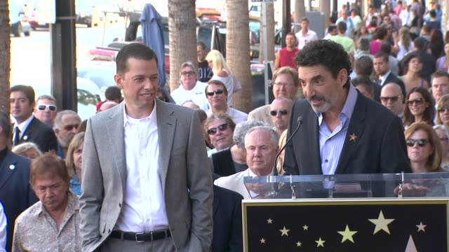 jon cryer chuck lorre at the jon cryer honored with star on the hollywood walk of fame at hollywood ca - jon cryer video video stock e b–roll