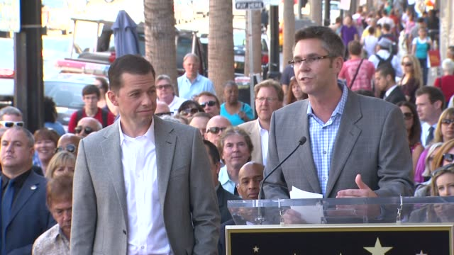 jon cryer john henson at the jon cryer honored with star on the hollywood walk of fame at hollywood ca - jon cryer video video stock e b–roll