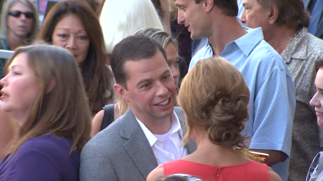 jon cryer lisa joyner at the jon cryer honored with star on the hollywood walk of fame at hollywood ca - lisa joyner stock videos and b-roll footage