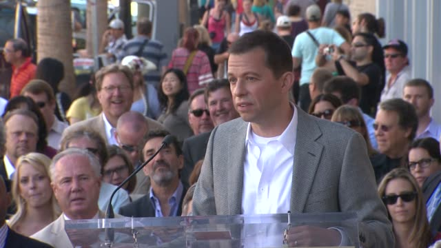 jon cryer on charlie sheen and 'two and a half men' at the jon cryer honored with star on the hollywood walk of fame at hollywood ca - jon cryer video video stock e b–roll