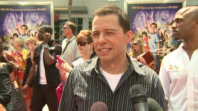 jon cryer on his character the film's 'real' star booger man why he took the role at the 'shorts' premiere at hollywood ca - jon cryer stock videos and b-roll footage