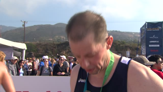 jon cryer on why he wanted to be a part of the nautica malibu triathlon how he's been preparing for today what he appreciates about the work... - jon cryer stock videos and b-roll footage