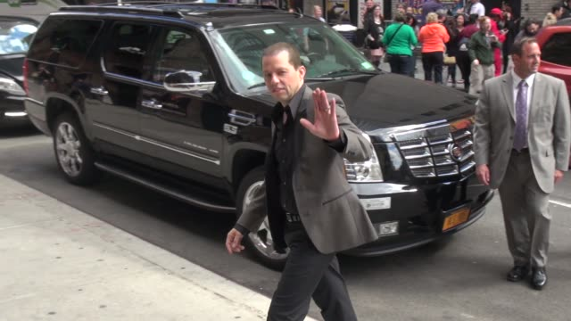 jon cryer poses for photographers outside of the late show with david letterman in celebrity sightings in new york - jon cryer stock videos and b-roll footage