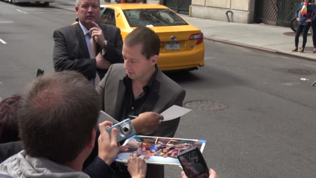 jon cryer signs for poses with fans outside of the late show with david letterman in celebrity sightings in new york - jon cryer stock videos and b-roll footage