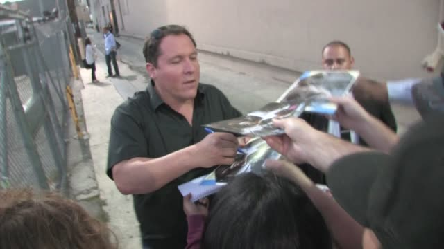 jon favreau at cowboys aliens special screening at aero theater in santa monica - cowboys & aliens stock videos and b-roll footage