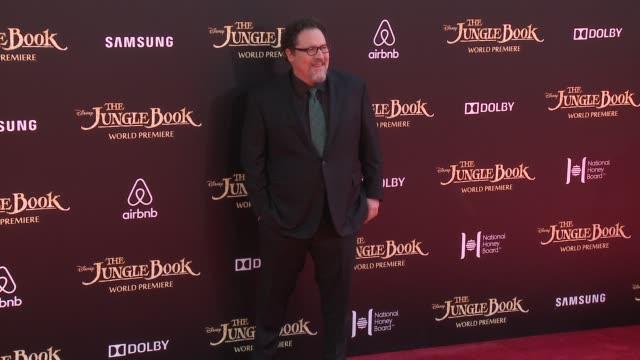"jon favreau at disney's ""the jungle book"" los angeles premiere at the el capitan theatre on april 04, 2016 in hollywood, california. - el capitan theatre stock videos & royalty-free footage"