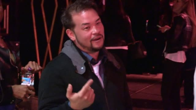 Jon Gosselin Friend greet Paparazzi with Axe Hair Gel at Bootsy Bellows in Hollywood Celebrity Sightings in Los Angeles CA on