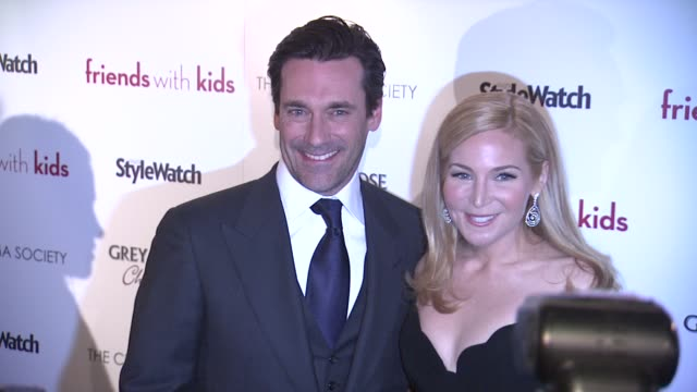 jon hamm and jennifer westfeldt at 'friends with kids' new york special screening on 3/5/2012 in new york ny united states - jennifer westfeldt stock videos and b-roll footage