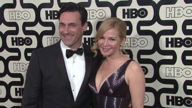 jon hamm and jennifer westfeldt at hbo's 70th annual golden globes after party in los angeles ca on 1/13/13 - jennifer westfeldt stock videos and b-roll footage