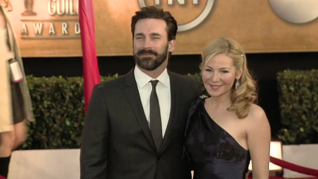 jon hamm and jennifer westfeldt at the 16th annual screen actors guild awards arrivals at los angeles ca - jennifer westfeldt stock videos and b-roll footage