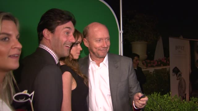 jon hamm and paul haggis at 5th annual hollywood domino gala presented by bovet 1822 benefitting artists for peace and justice on 02/23/12 in west... - paul haggis stock videos and b-roll footage
