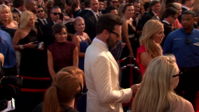 jon hamm arriving at the 2013 emmy awards - emmy awards stock videos & royalty-free footage