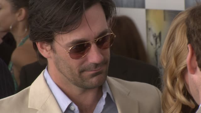 jon hamm at the film independent's 2009 spirit awards arrivals at los angeles ca. - independent feature project stock videos & royalty-free footage