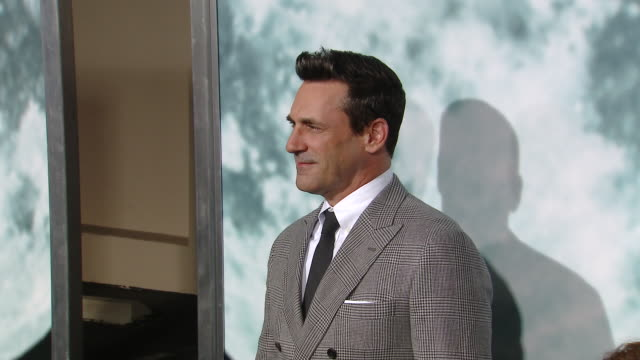 """jon hamm at the """"lucy in the sky"""" los angeles premiere presented by fox searchlight pictures in los angeles ca - fox searchlight pictures stock videos & royalty-free footage"""